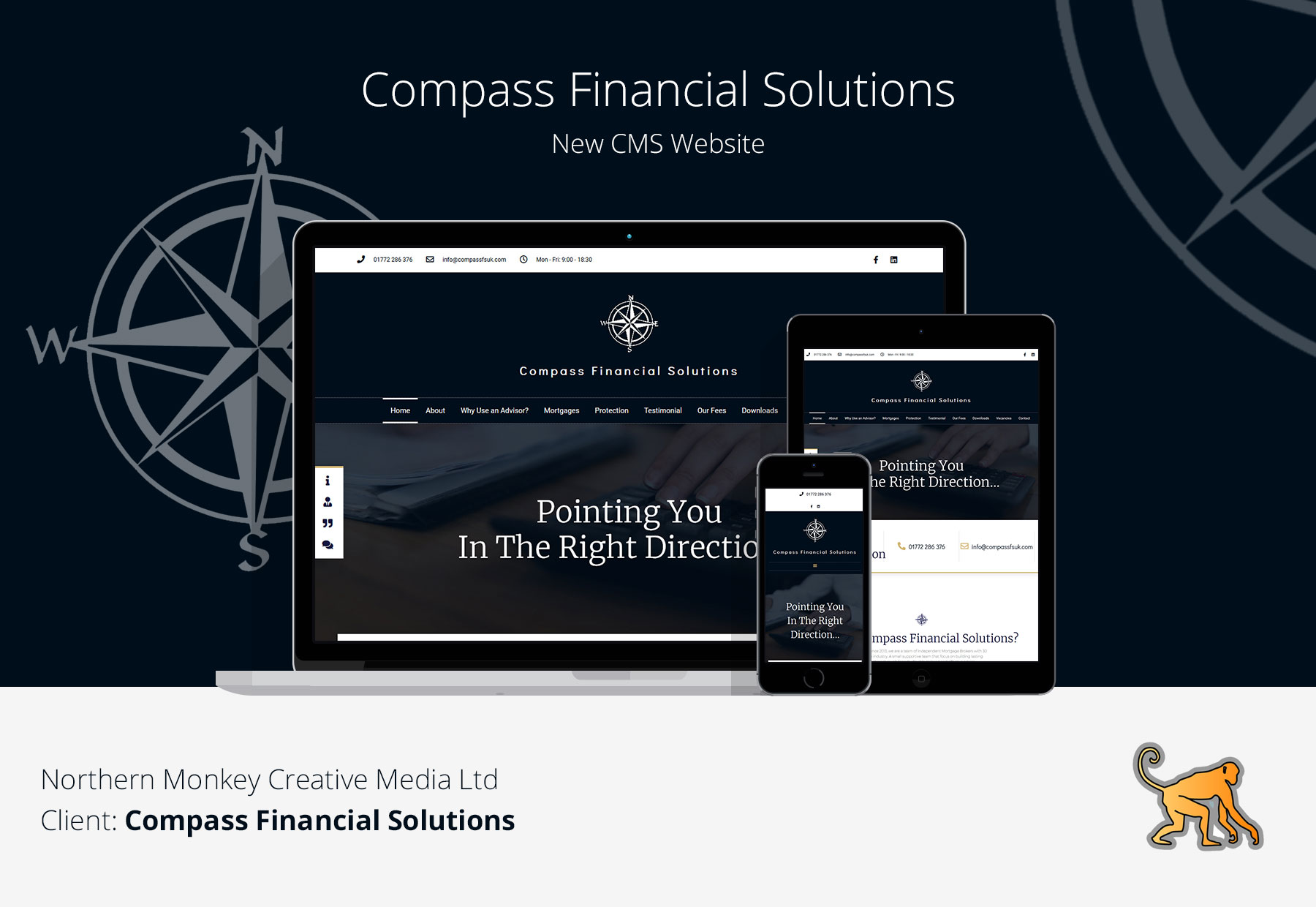 Compass Financial Solutions Designed and Developed by Northern Monkey Creative Media